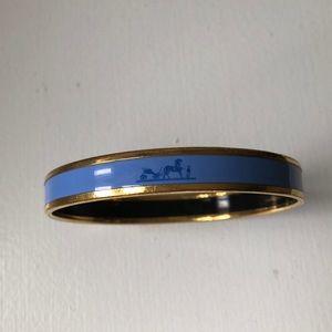 Small vintage Hermès logo enamel bracelet